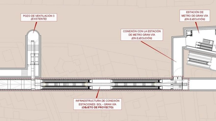 Túnel que conectará el Cercanías de Sol con la estación de Gran Vía   ADIF