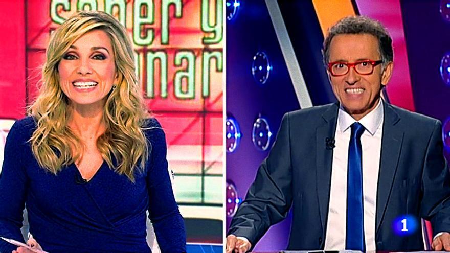 Conexión en directo histórica de Telediario con 'Saber y ganar'