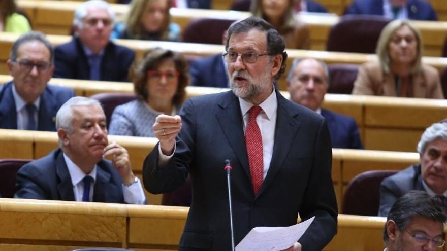 Rajoy regresa al Senado en un Pleno marcado por la situación política en Cataluña