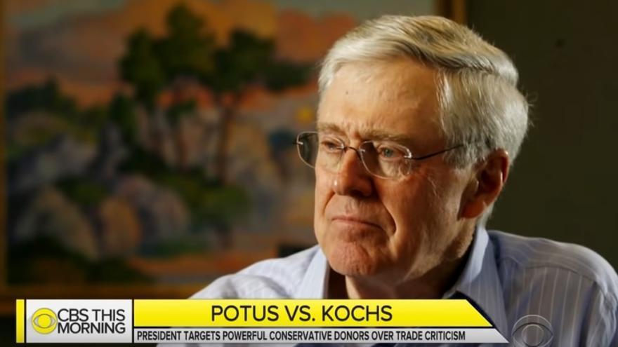 David Koch, durante un programa de la CBS / CBS
