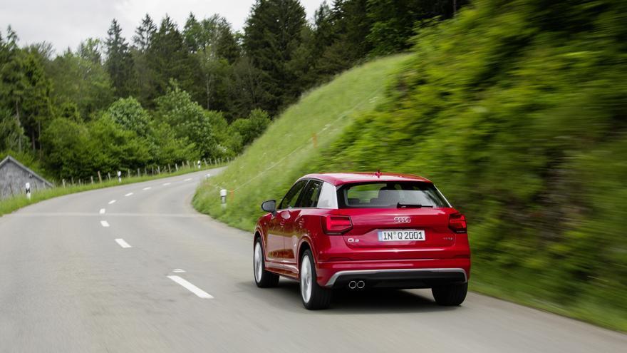 El motor diésel de 190 caballos del Q2 va asociado a la conocida tracción quattro de Audi.