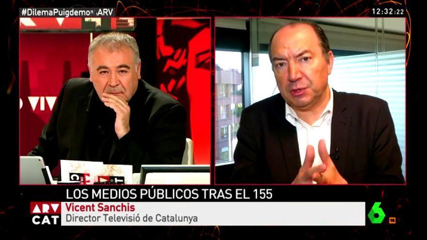 Vicent Sanchís, durante su entrevista con Ferreras en Al rojo vivo