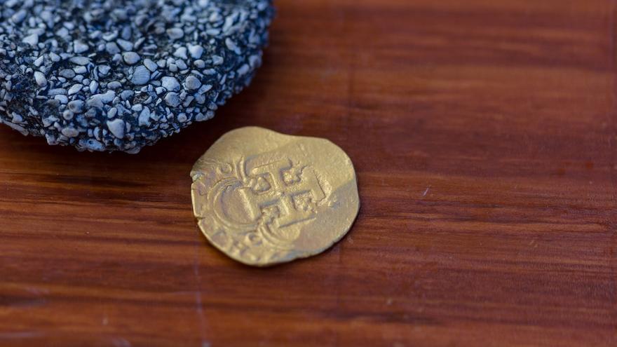 Hallan en Florida una moneda de un galeón español valorada en 98.000 dólares