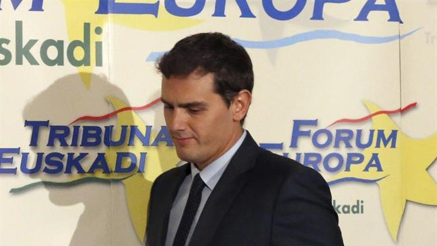 Rivera plantea el reto de que C's crezca en Euskadi como lo hizo en Cataluña