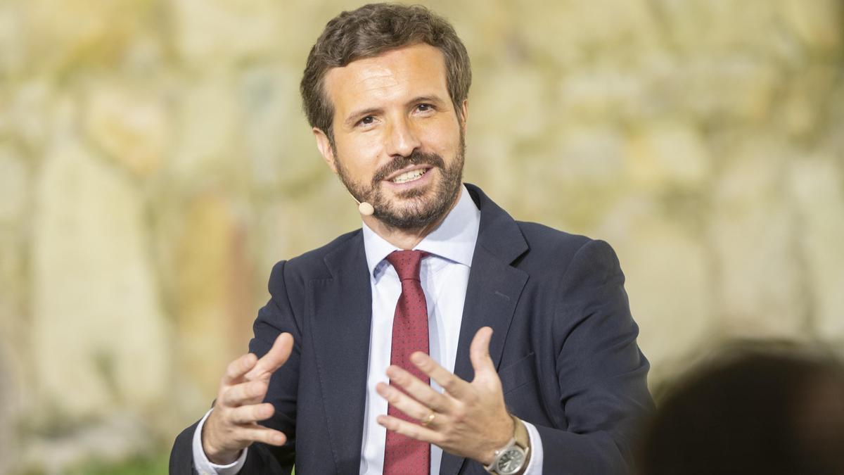 El líder del PP, Pablo Casado, el pasado julio en un acto en Ávila.