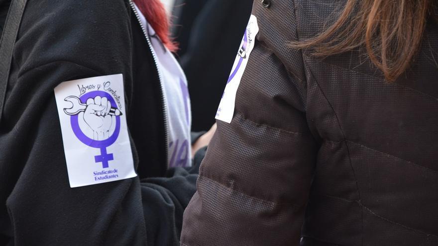 Concentración estudiantil. Huelga Feminista 8M Murcia (08)