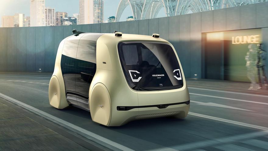 Prototipo Sedric, así será el futuro coche autónomo de Volkswagen en 2025.