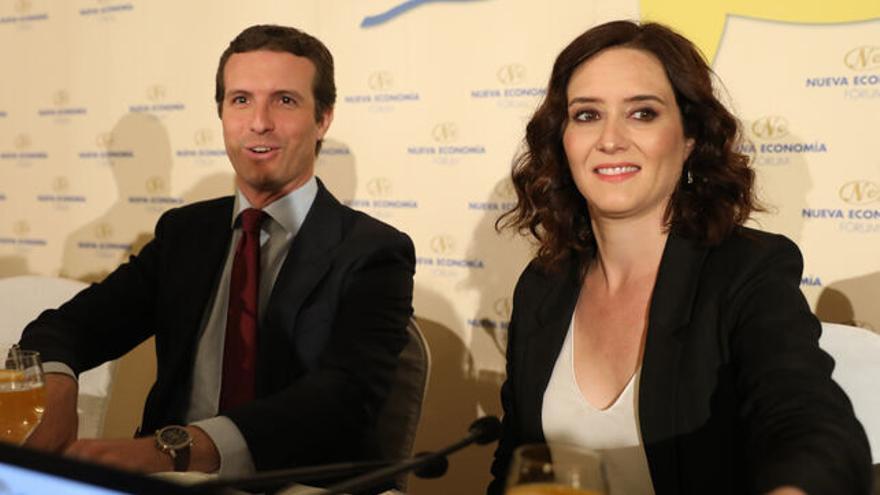 Pablo Casado e Isabel Díaz Ayuso en una imagen de archivo