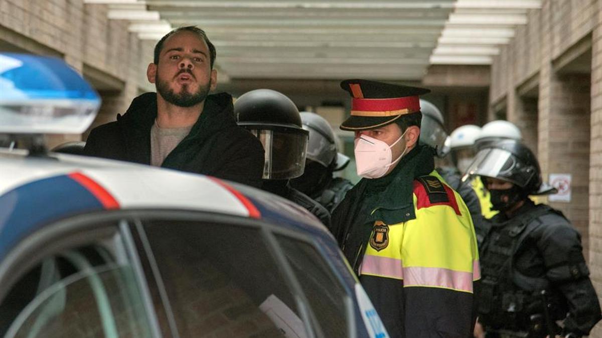 Pablo Hasel, detenido por los Mossos el pasado 16 de febrero