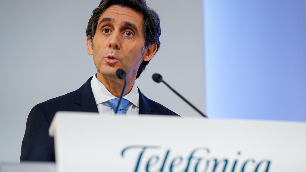 El presidente del grupo Telefónica, José María Álvarez-Pallete. EFE/Emilio Naranjo/Archivo