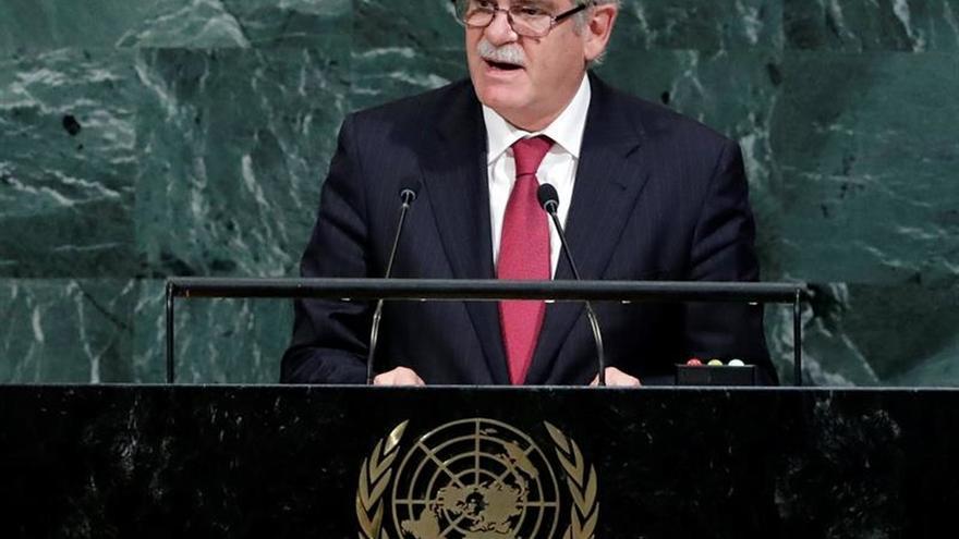 El ministro español de Asuntos Exteriores, Alfonso Dastis, habla durante el debate de alto nivel de la 72 Asamblea General de Naciones Unidas.