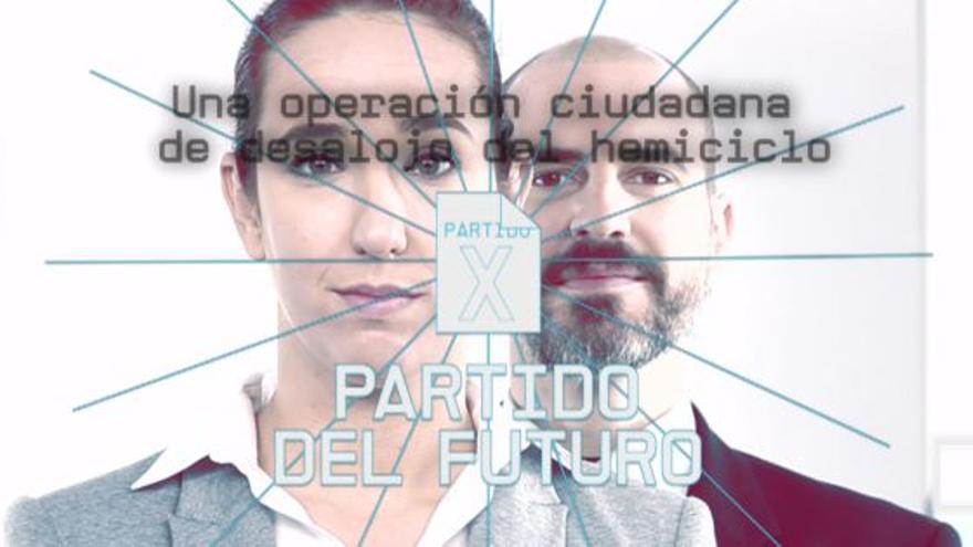 Dos actores ponen cara al Partido del Futuro en los vídeos difundidos hasta ahora