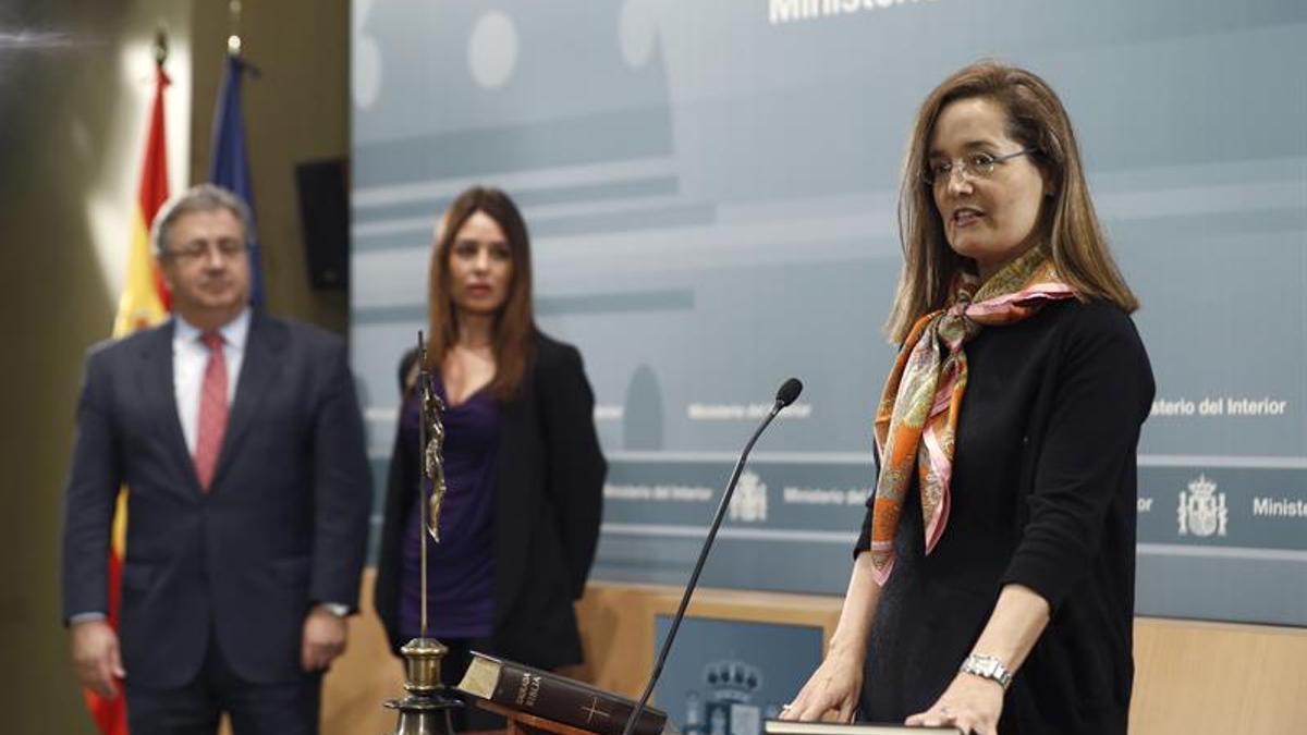 Elena Garzón, a la derecha de la imagen