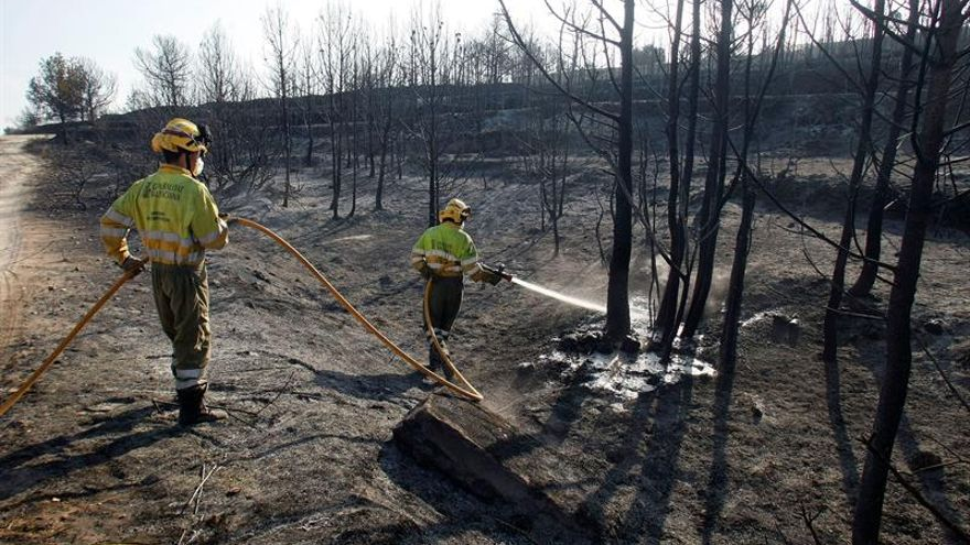 El fuego no causa daños en las casas en Xàbia pero sí en parcelas y jardines