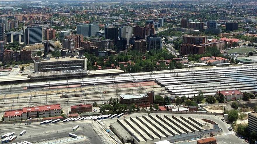 Vista aérea de la Estación de Chamartín