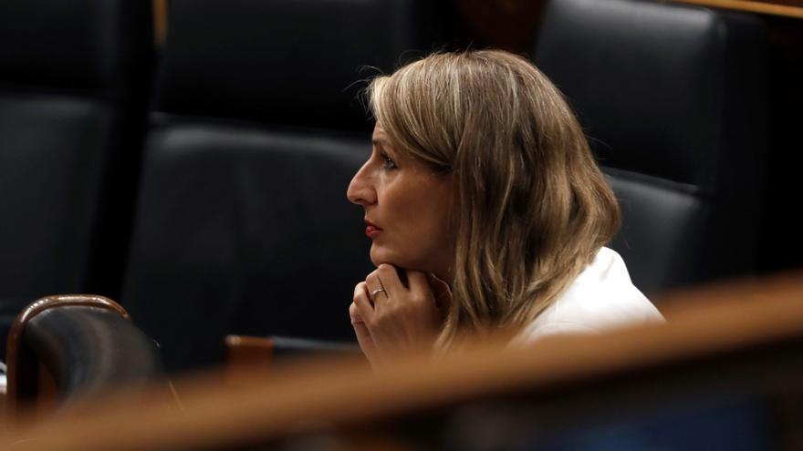 Yolanda Díaz, durante una sesión en el Congreso.