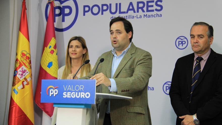 Paco Núñez, anoche en Toledo durante su comparecencia para valorar los resultados