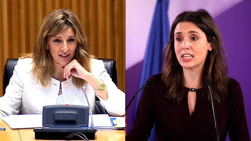 Yolanda Díaz e Irene Montero