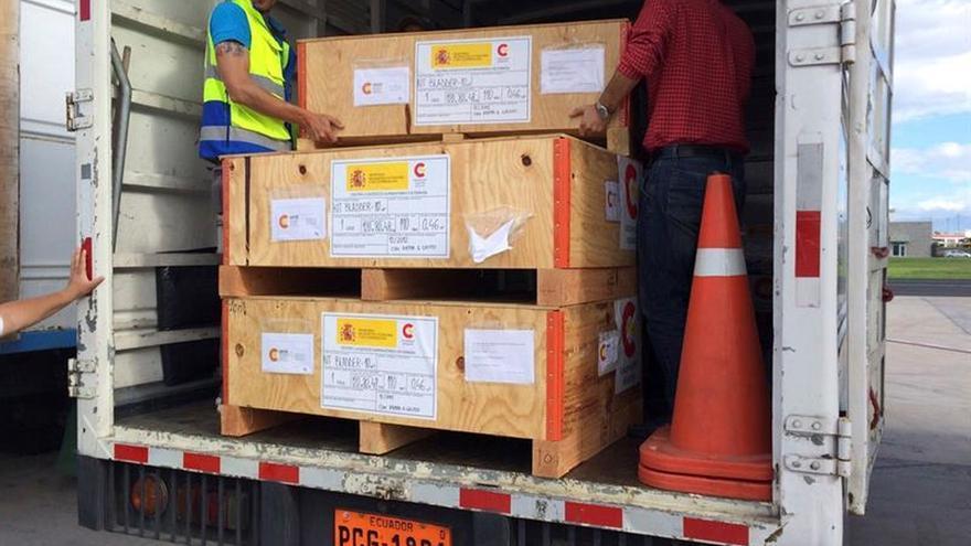 Empieza a distribuirse la ayuda española a las víctimas del seísmo de Ecuador