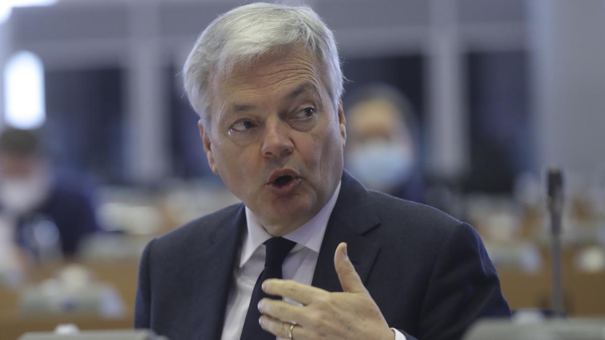 El comisario europeo de Justicia, Didier Reynders.