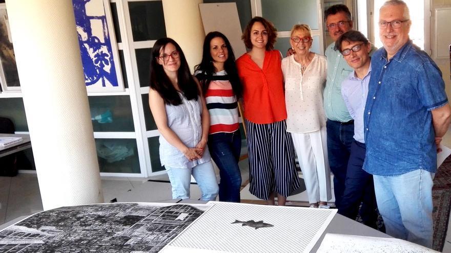 En la imagen, los miembros del jurado del Premio Carmen Arozena.