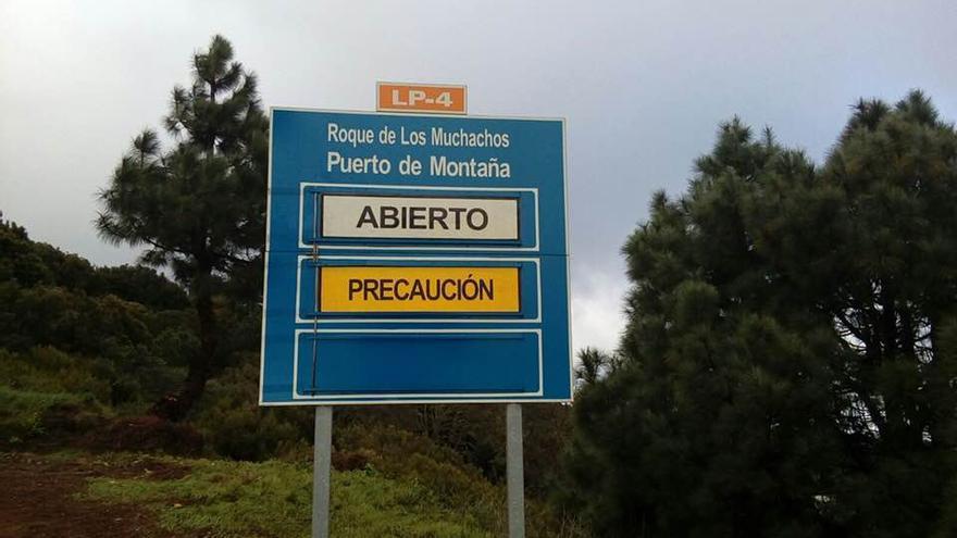 La vía LP-4 del Roque de Los Muchachos ha sido abierta al tráfico este lunes por Garafía.