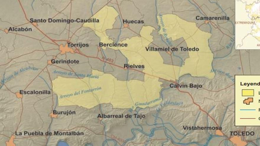 Zona especial protección aves ZEPA Torrijos Toledo