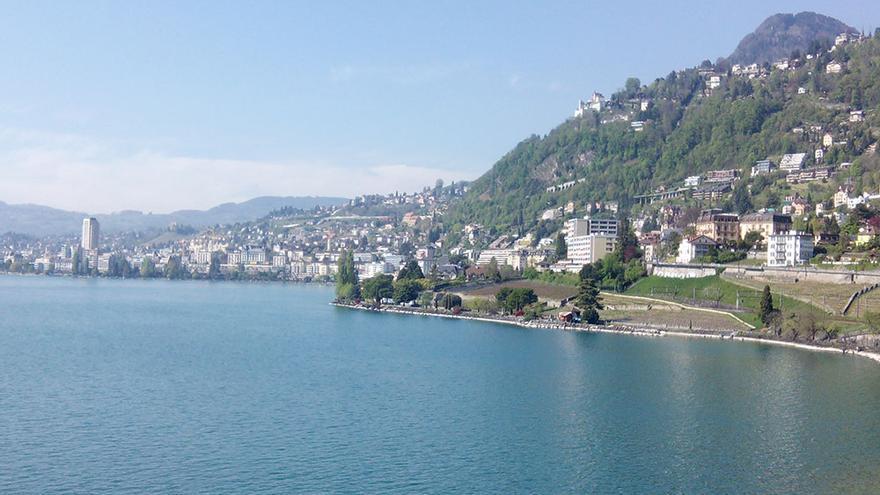 Vista de Montreux y el lago Lemán.