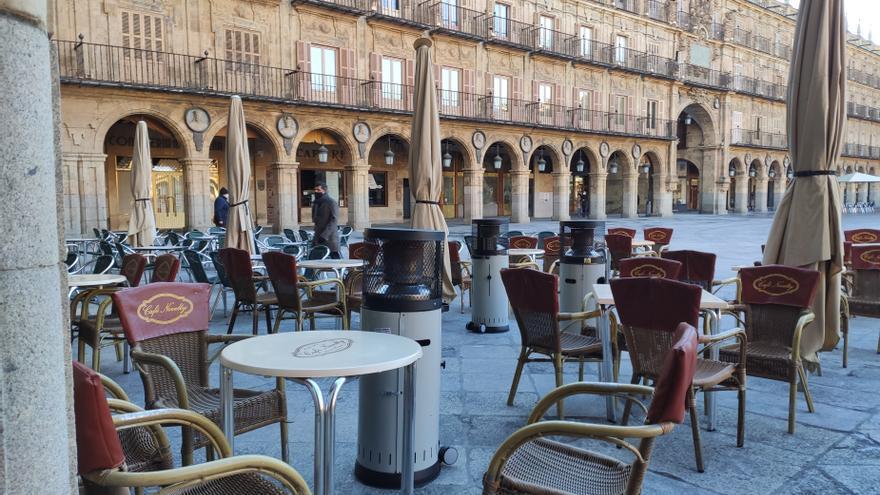 Terraza  en la ciudad de Salamanca.