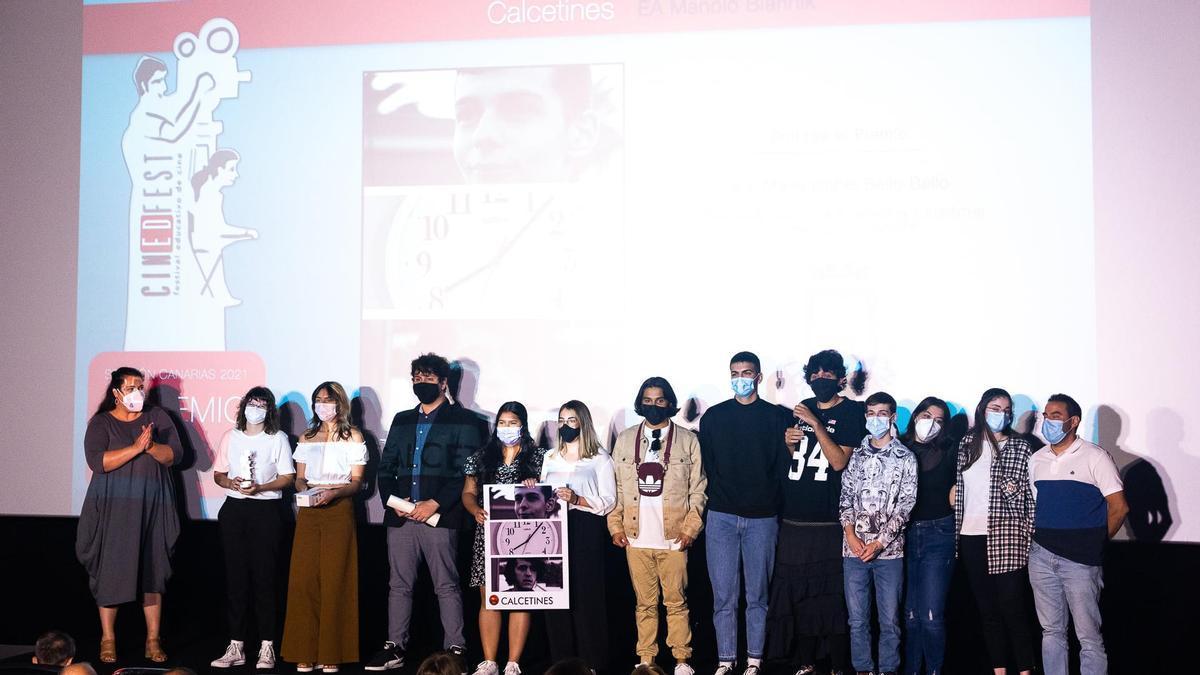 Un momento entrega de premios Festival de Cine Educativo Cinedfest'.
