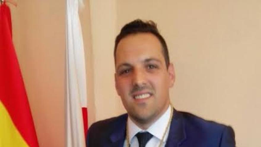 Jonathan Felipe, nuevo alcalde de Breña Alta, este sábado.