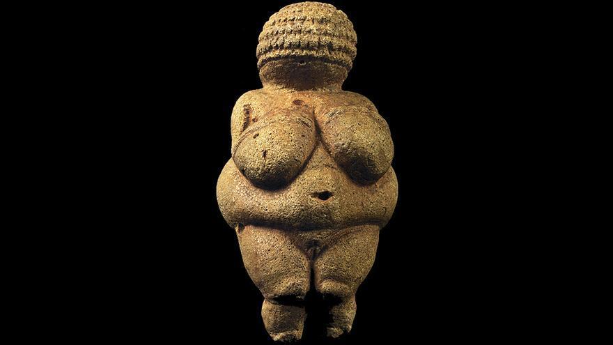 La Venus de Willendorf, una escultura paleolítica datada entre 28.000 y 25.000 a. C