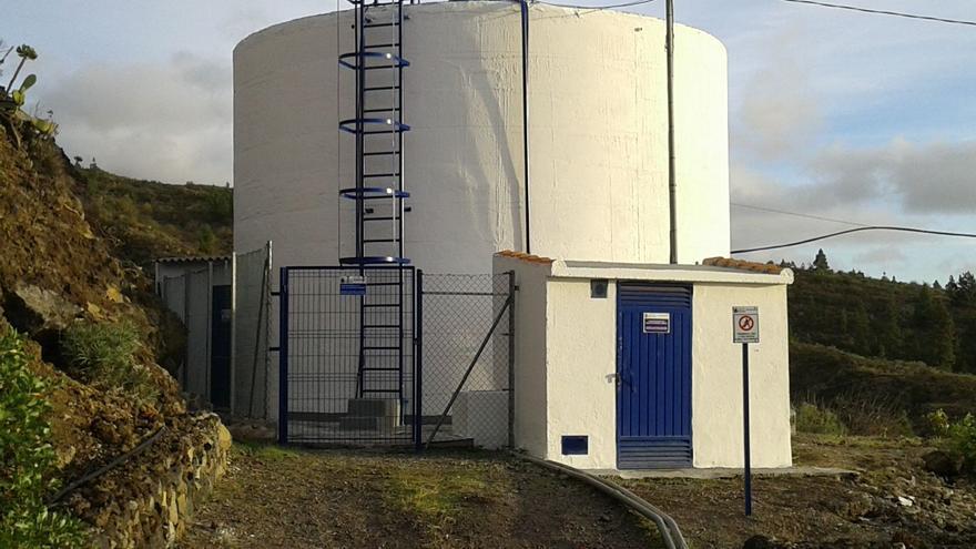 Depósito de agua en la zona de Chirche, en Guía de Isora