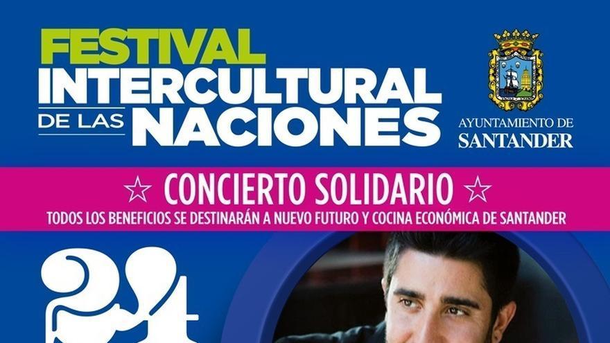 Alex Ubago protagoniza el concierto solidario de esta semana en el Festival Intercultural de Santander