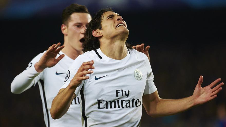 Cavani hizo el único gol del París Saint Germain.