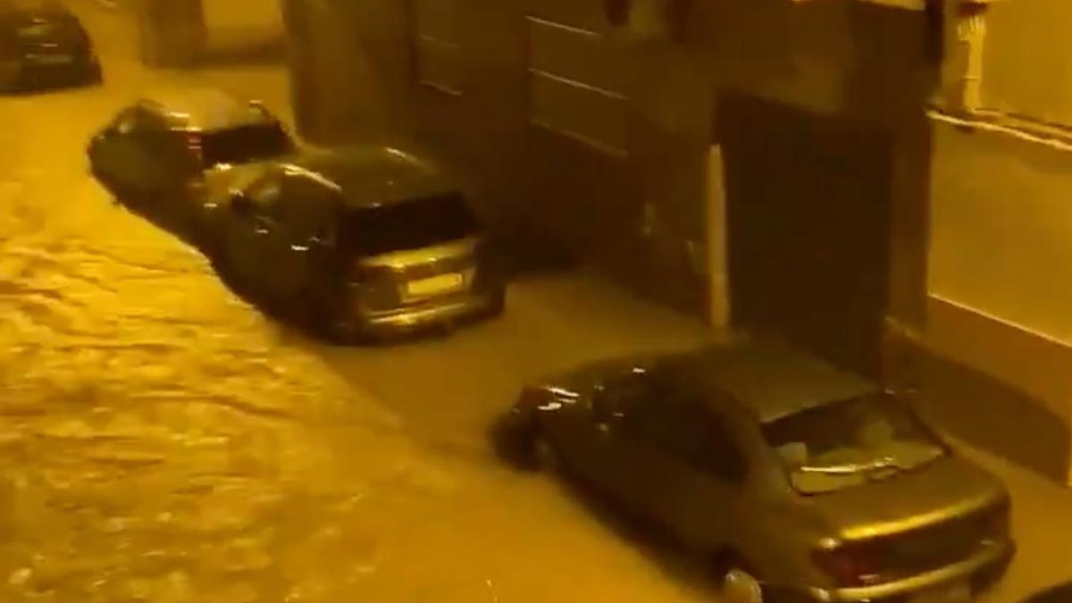 Imagen de las inundaciones en el Port de Sagunt.