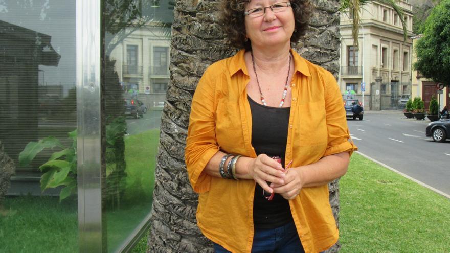 La profesora Juana María González Mancebo participa en la reunión de Moveclim. Foto: LUZ RODRÍGUEZ