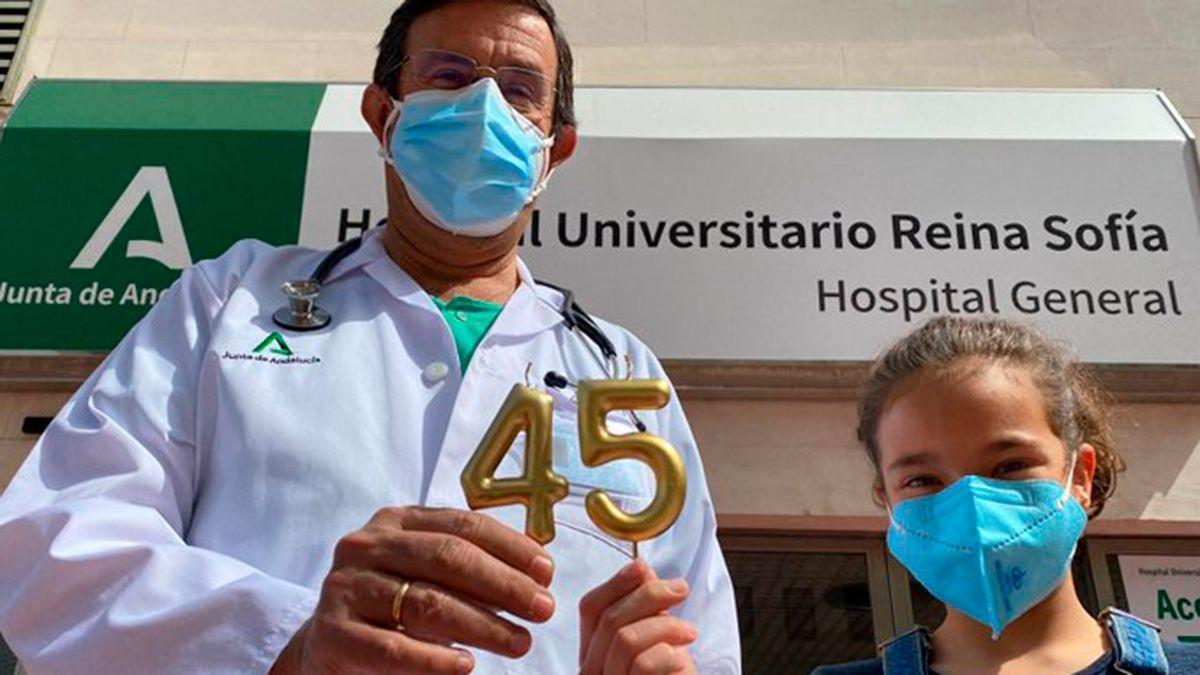 Imagen difundida por el Hospital Reina Sofía por su 45 aniversario.