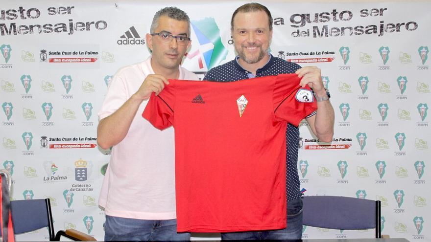 Víctor Francisco con Ángel Sánchez este sábado.