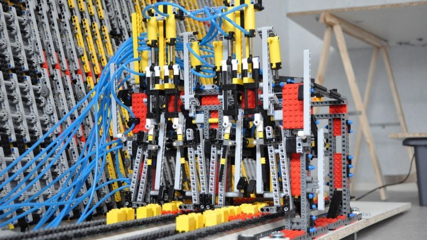 Lego Turing Machine Read and write head