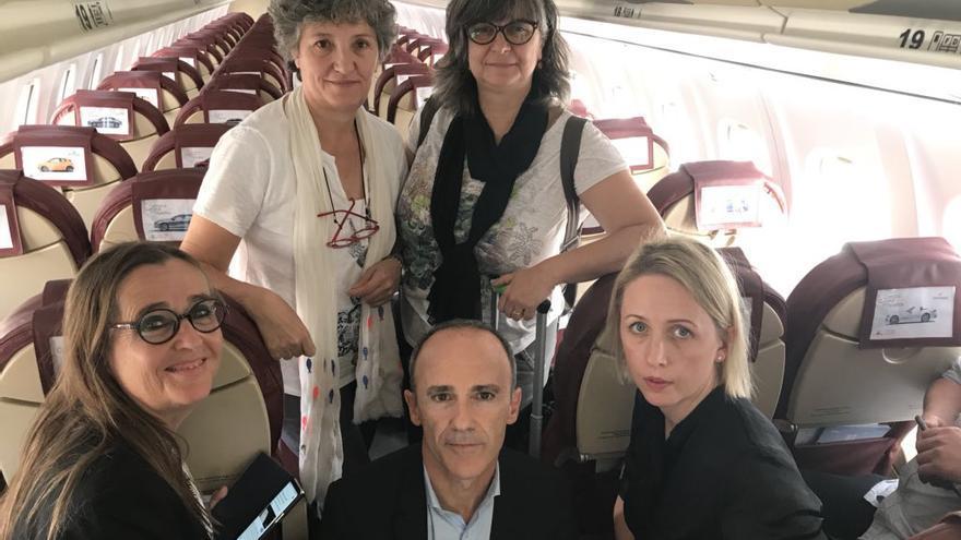 Delegación de eurodiputados que no ha podido entrar a los territorios ocupados.