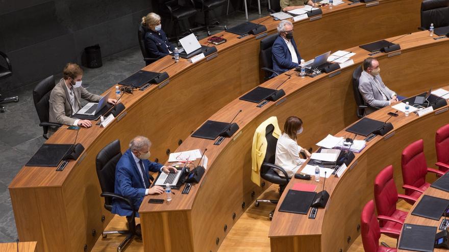 Bancada de Navarra Suma en el Parlamento foral.