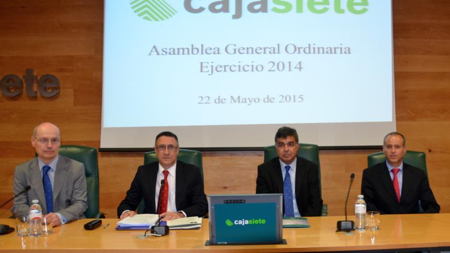 De izquierda a derecha, Juan Alberto González, secretario; Fernando Berge, presidente; Eugenio Campos, vicepresidente y Manuel del Castillo, director general.