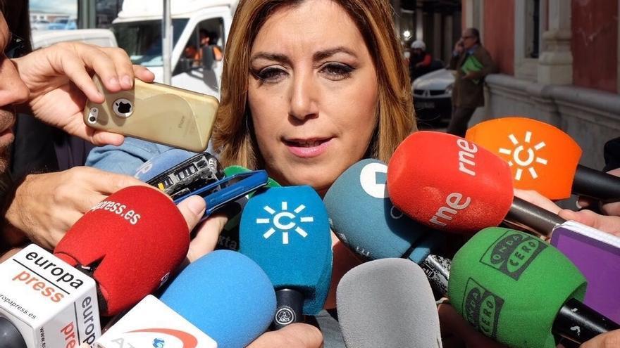 """Susana Díaz considera que no es momento de """"proyectos personalistas"""" sino de uno """"autónomo"""" del PP y Podemos"""