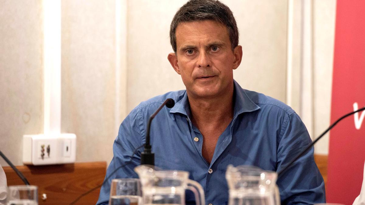 El ex primer ministro francés y concejal en el Ayuntamiento de Barcelona Manuel Valls. EFE/David Arquimbau Sintes/Archivo