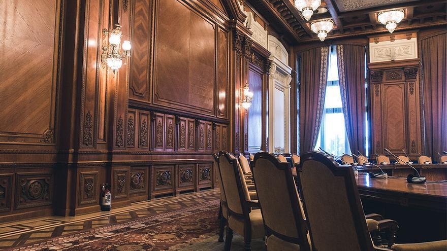 Sala de reuniones internacionales.