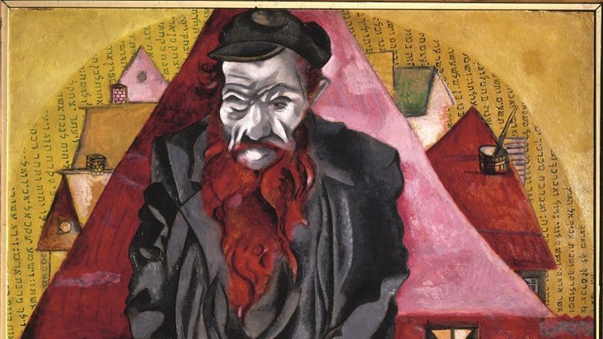 'Judío en rojo', de Marc Chagall (1915)