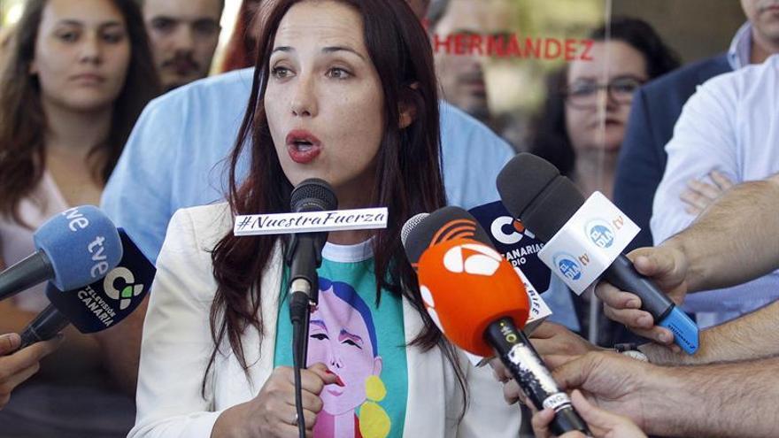 Patricia Hernández, en la presentación de su candidatura a la Secretaría General del PSOE canario