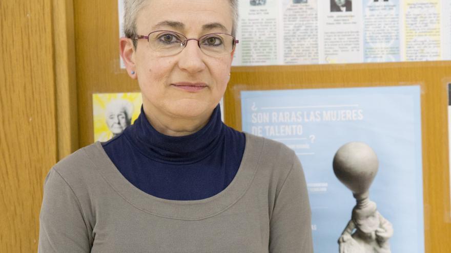 Marta Macho, profesora titular de Geometría del Departamento de Matemáticas de la UPV/EHU.