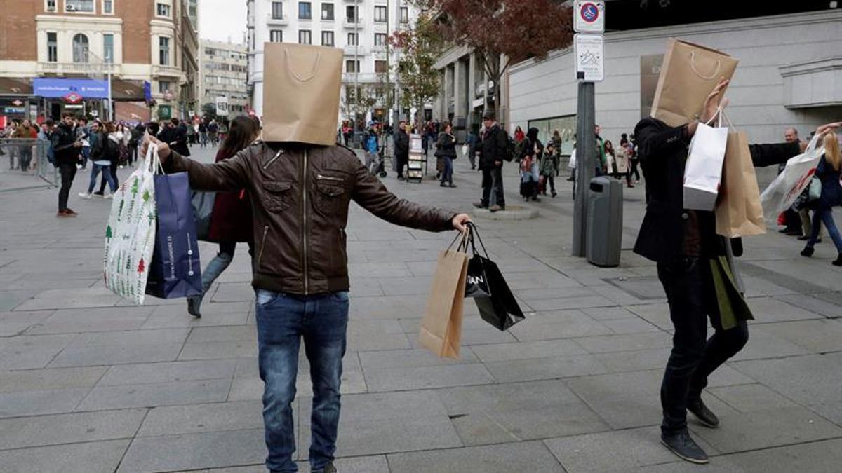 Una protesta por un consumo sostenible.